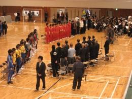 開会式 玉津中学校の生徒さんたちによる両国国歌の演奏で幕が開きました。