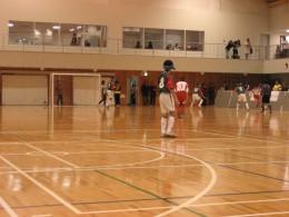 試合風景 試合結果は5-0で中国代表チームが勝利しました。